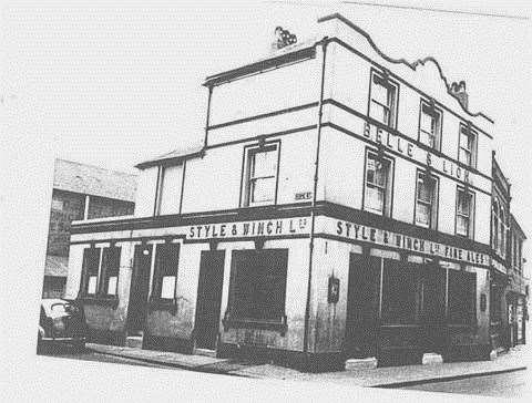 The former Belle and Lion at the junction of High Street with Hope Street was Sheerness' first pub (Picture: Bel Austin)