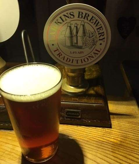 Larkins – 'the best beer in the world'. I don't think it deserves this accolade but it was a well-kept, decent session ale. The landlady assures me in better times they have a larger selection.