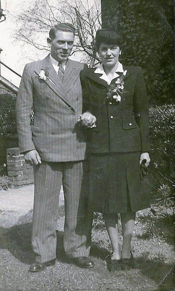 Ron Green's parents wedding in 1946