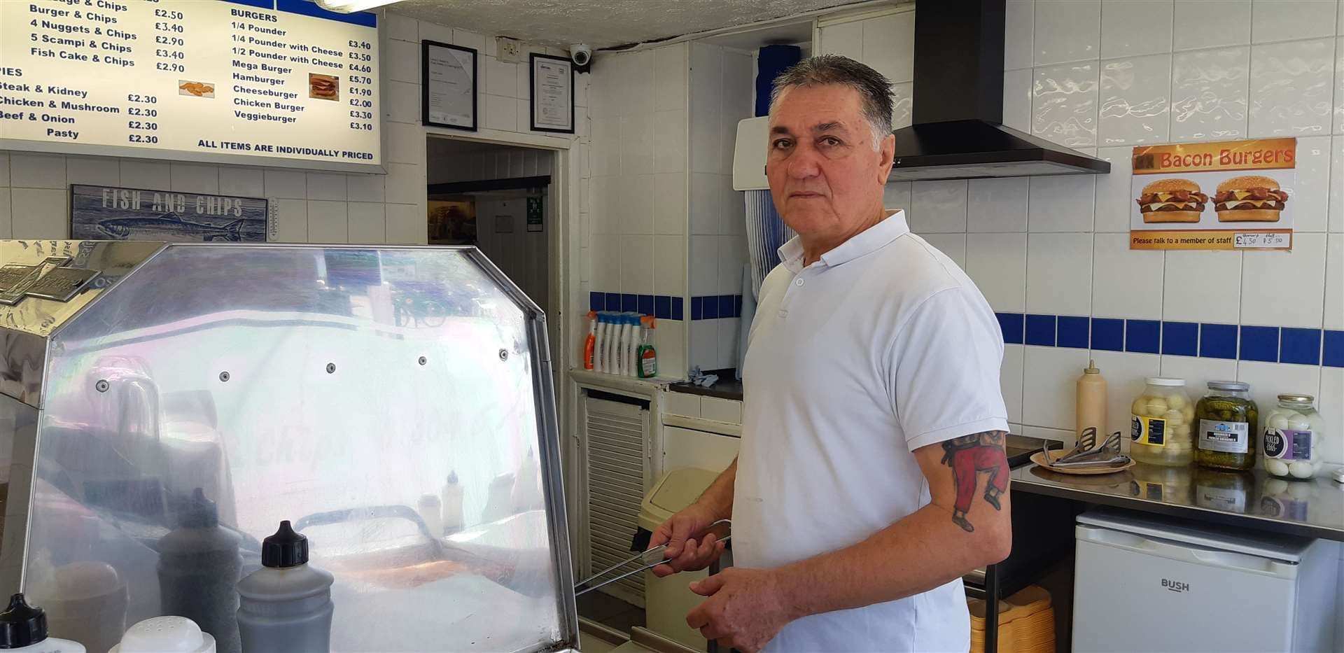 Ossie's Fish and Chip Shop were handing out free chips