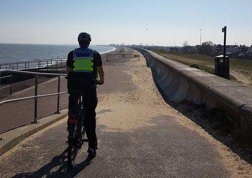 Police on patrol in Romney Marsh over the Easter weekend. Image: Kent Police Folkestone and Hythe