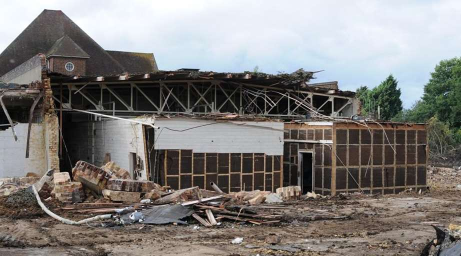 The Ditton Laboratories are reduced to rubble