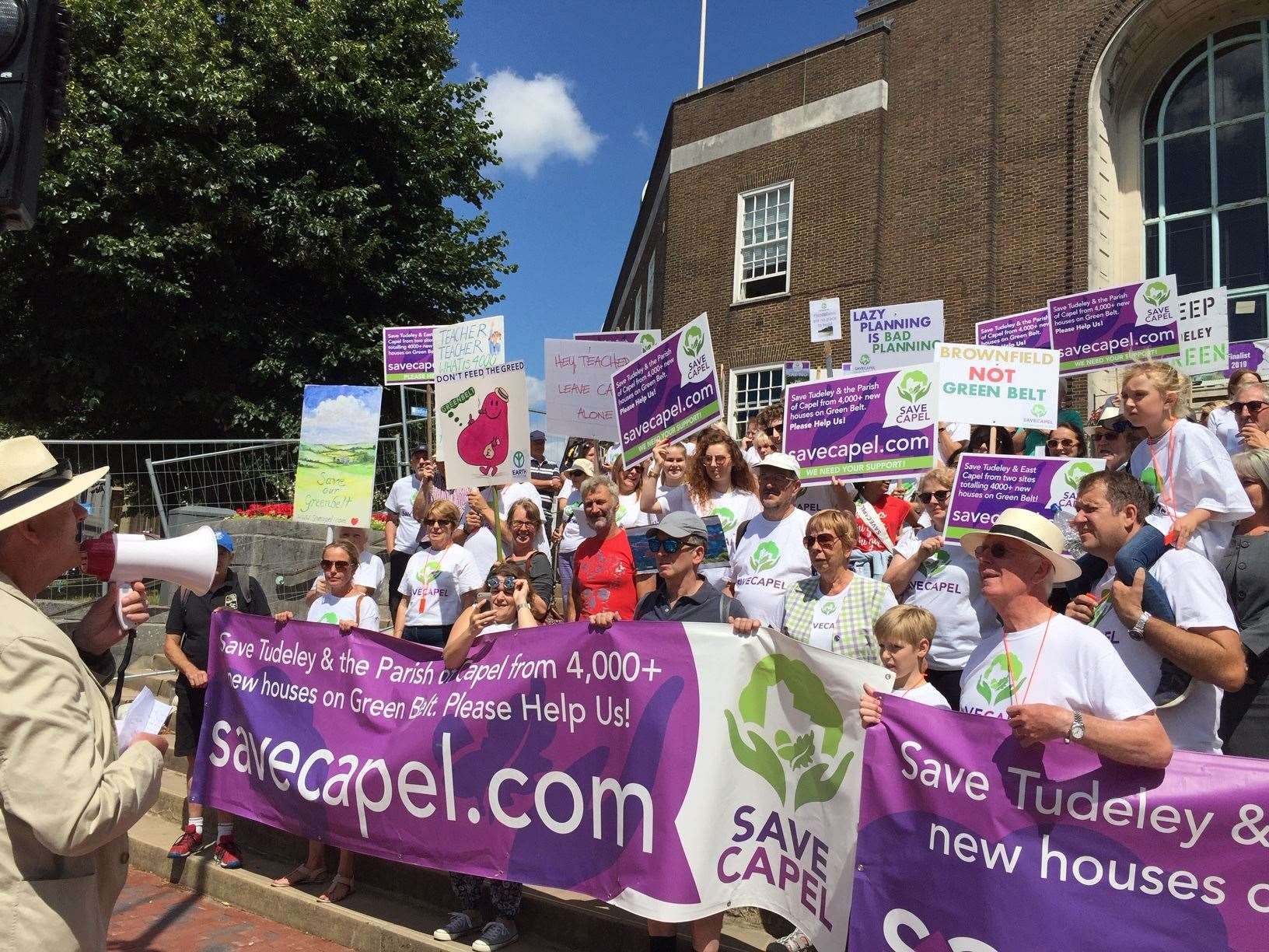 Save Capel protest outside Tunbridge Wells Town Hall