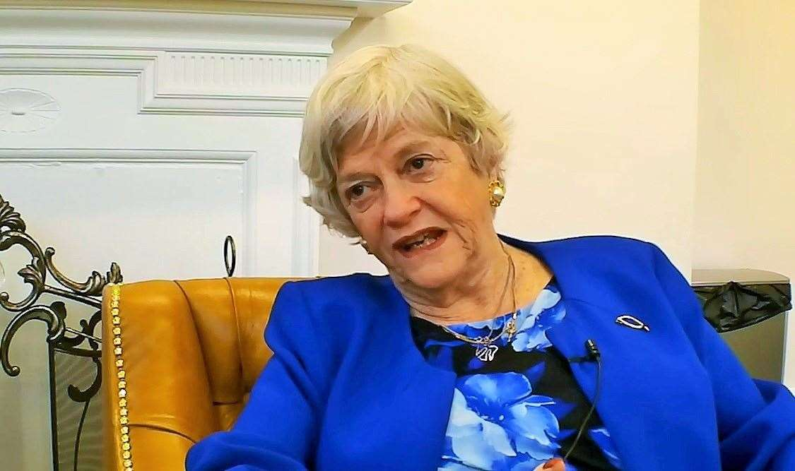 Ann Widdecombe has explained her decision to return to Kent