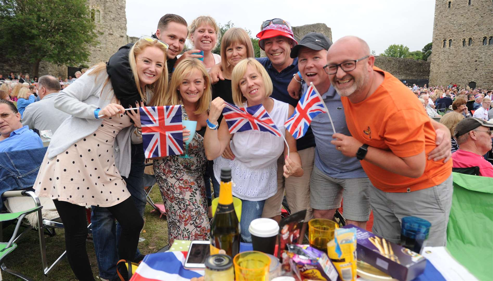The Castle Concerts Proms encourage plenty of flag waving Picture: Steve Crispe