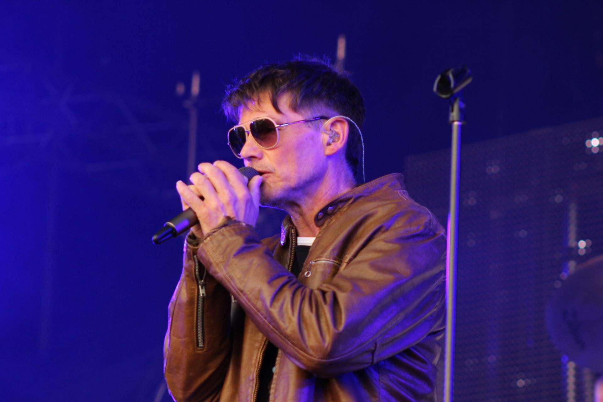 A-ha's Morten Harket at Kent Cricket's Spitfire Ground, Canterbury, on Wednesday. Picture: John Nurden (2441346)
