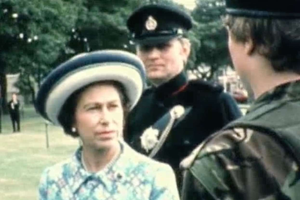 The Queen inspects soldiers in Dover, 1977. Picture courtesy of Dover Museum