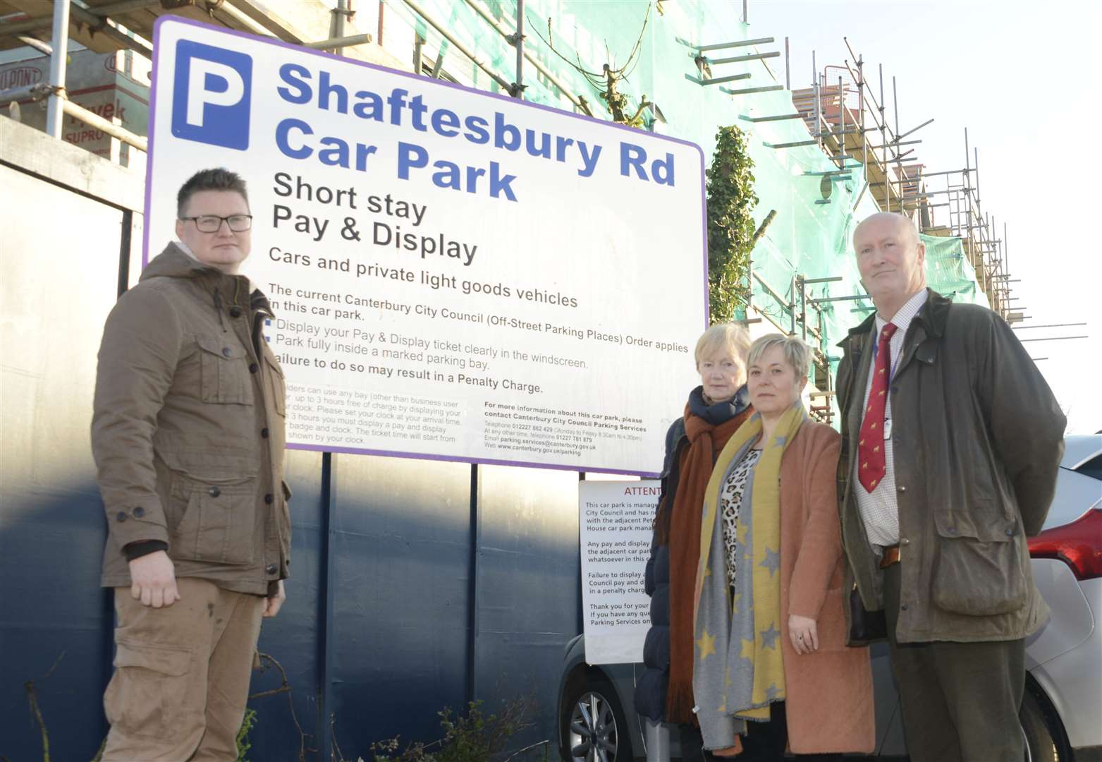 Cllr Chris Cornell,Cllr Ann Kenny, local business owner Alison Clarke and Cllr Ashley Clark were outraged over the proposed charges