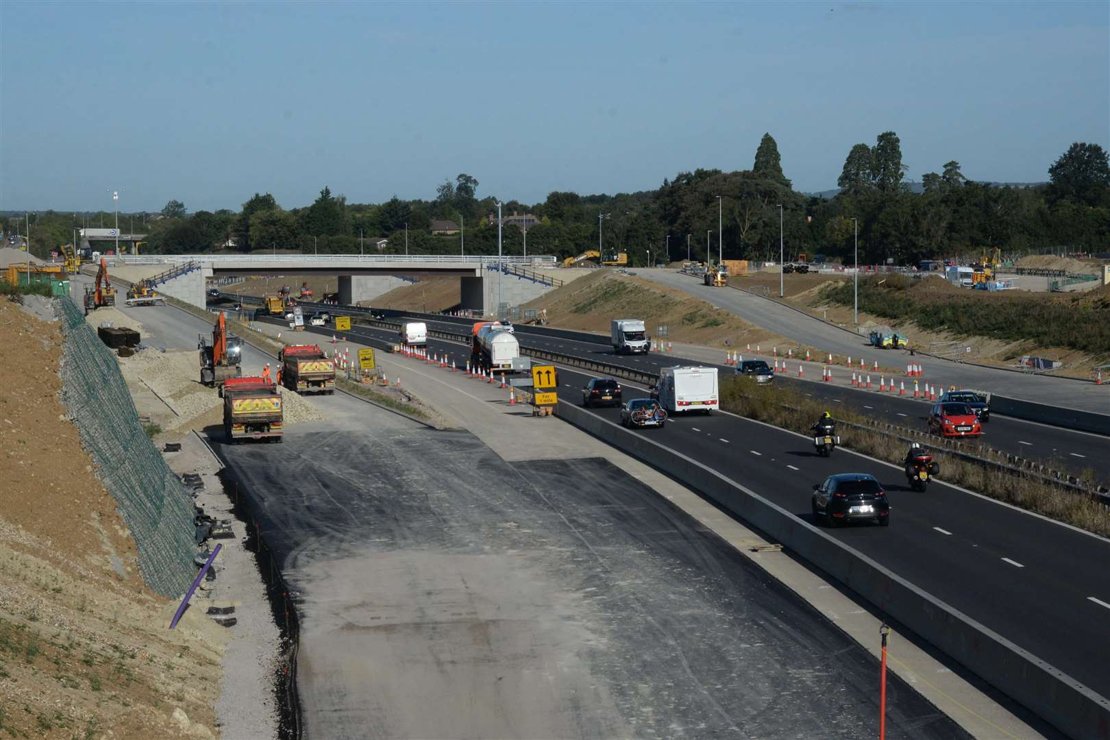 Construction work at the M20 Junction 10a site Picture: Chris Davey