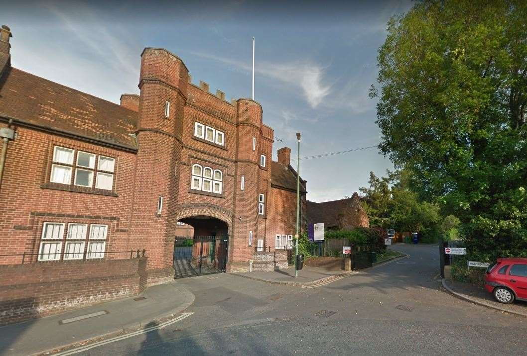 Maidstone Grammar School has confirmed a positive test for coronavirus. Photo: Google