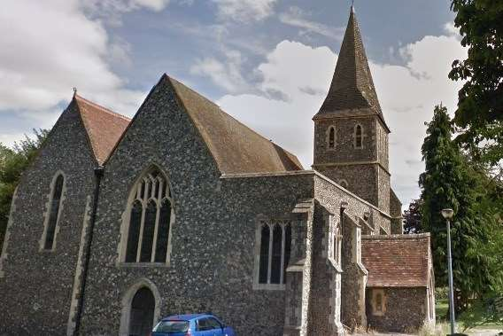 Lead and tiles were stolen from Preston Church near Faversham.