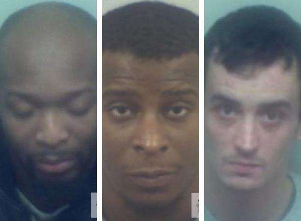 From left, Seun Daramola, Rene Joseph and Kirk Huggins. Picture: Kent Police (5867372)