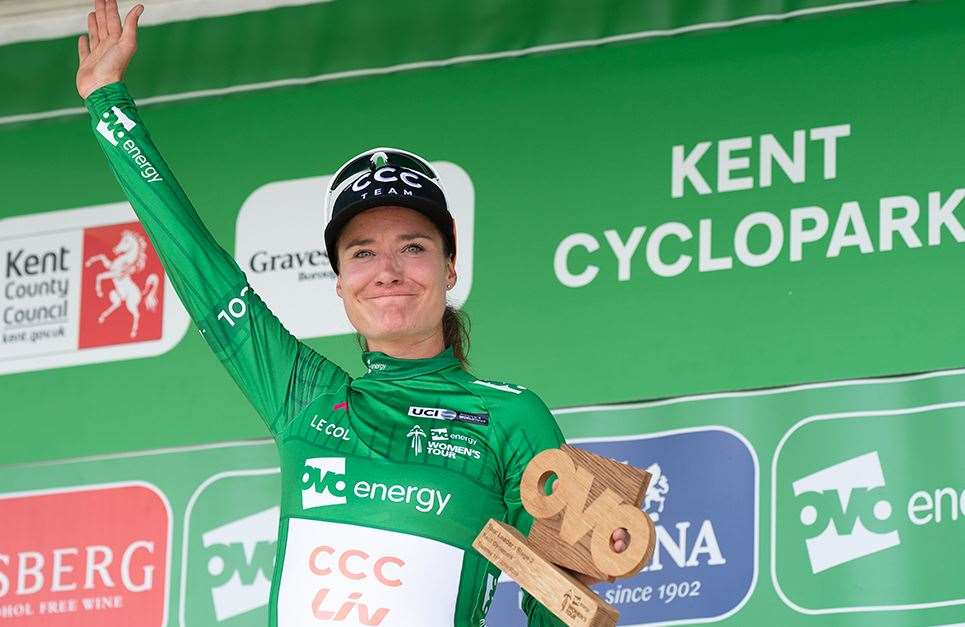 Stage two victory - and the green jersey - for Marianne Vos Picture: Ady Kerry