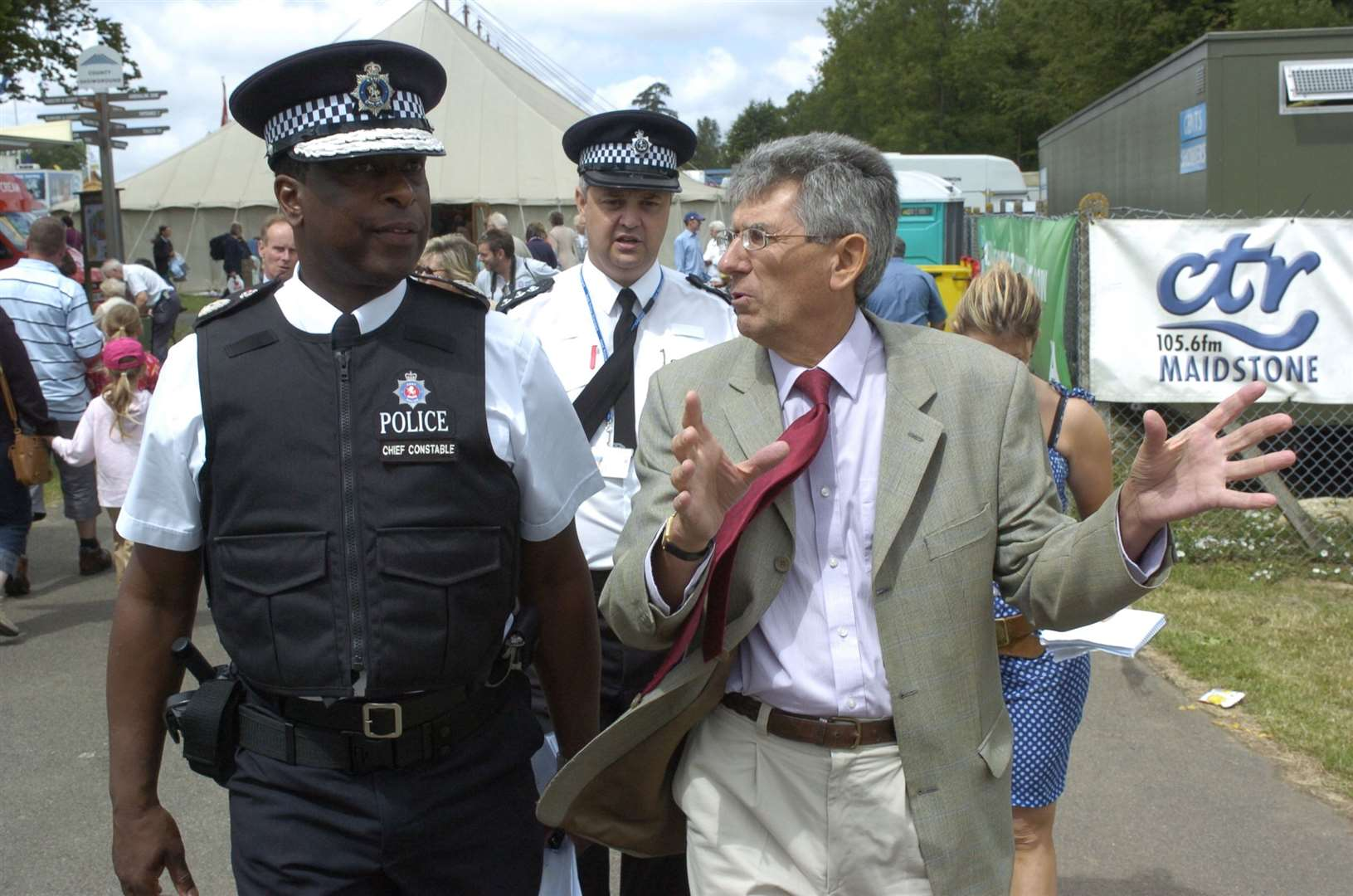 With then chief constable Mike Fuller launching Respect Awards at the KM stand at the 2006 County Show