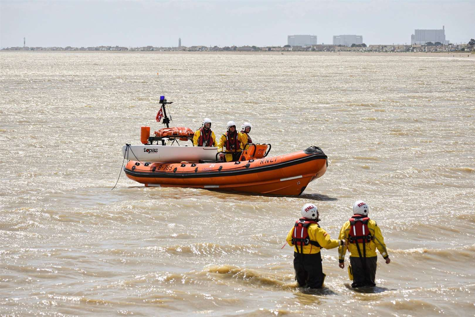 Littlestone Lifeboat come the rescue near the beach. Picture supplied by Iain Bates/Littlestone RNLI