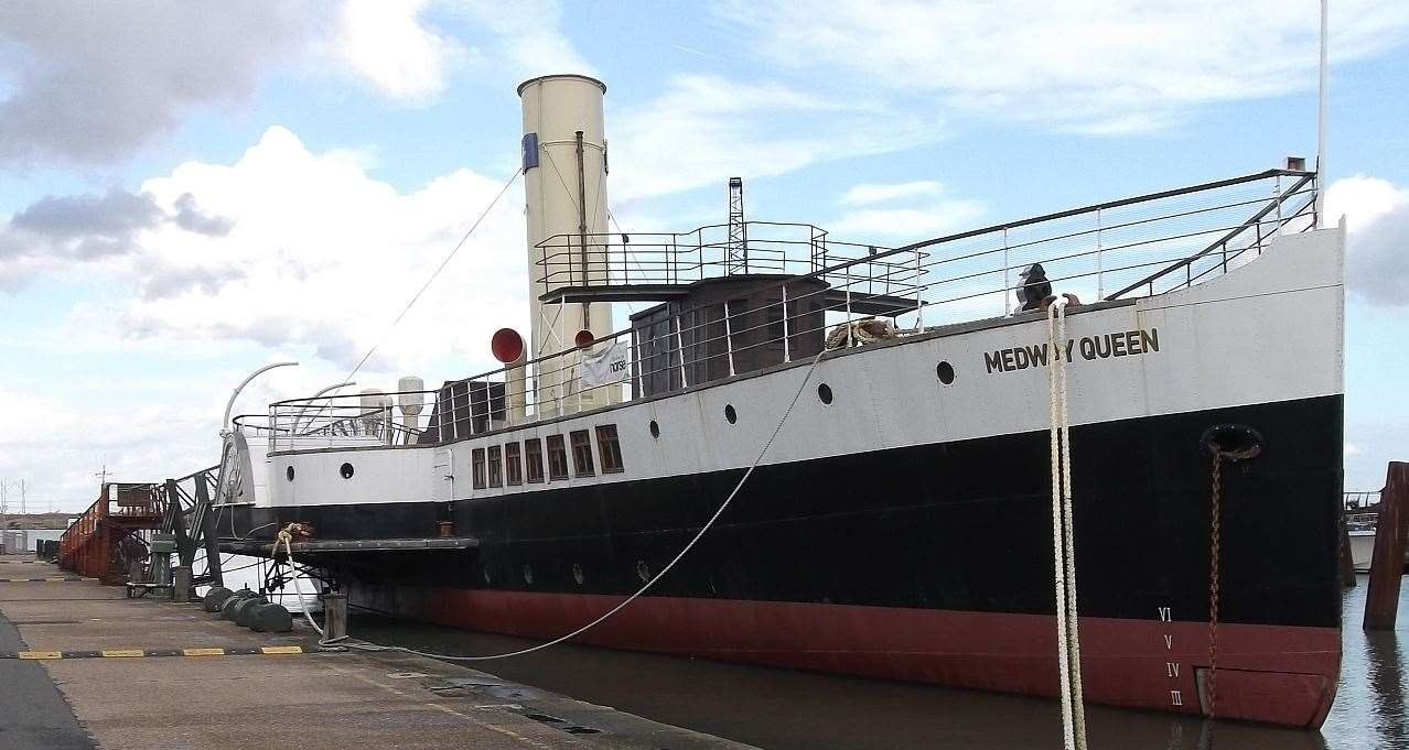 The Medway Queen at Gillingham Pier is offering free virtual tours