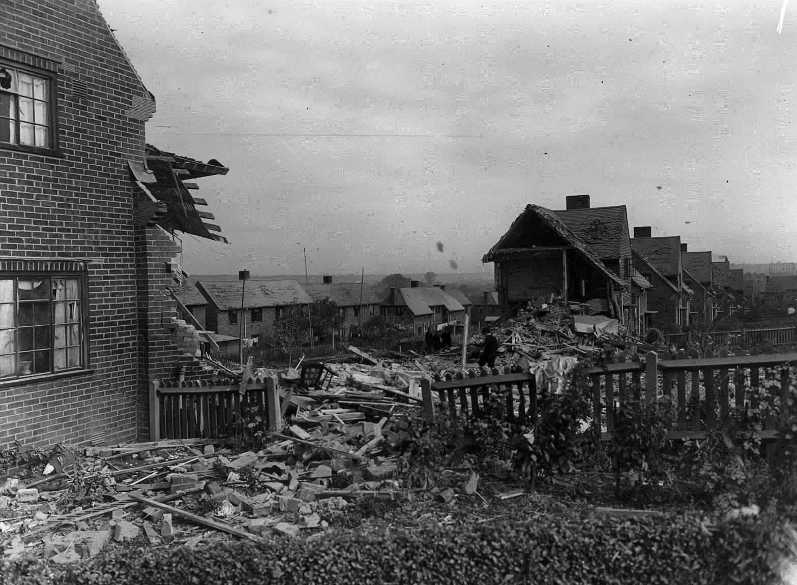 Houses on the Thanington estate were also destroyed