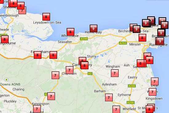 High pollution levels are expected across Kent. Picture: Defra