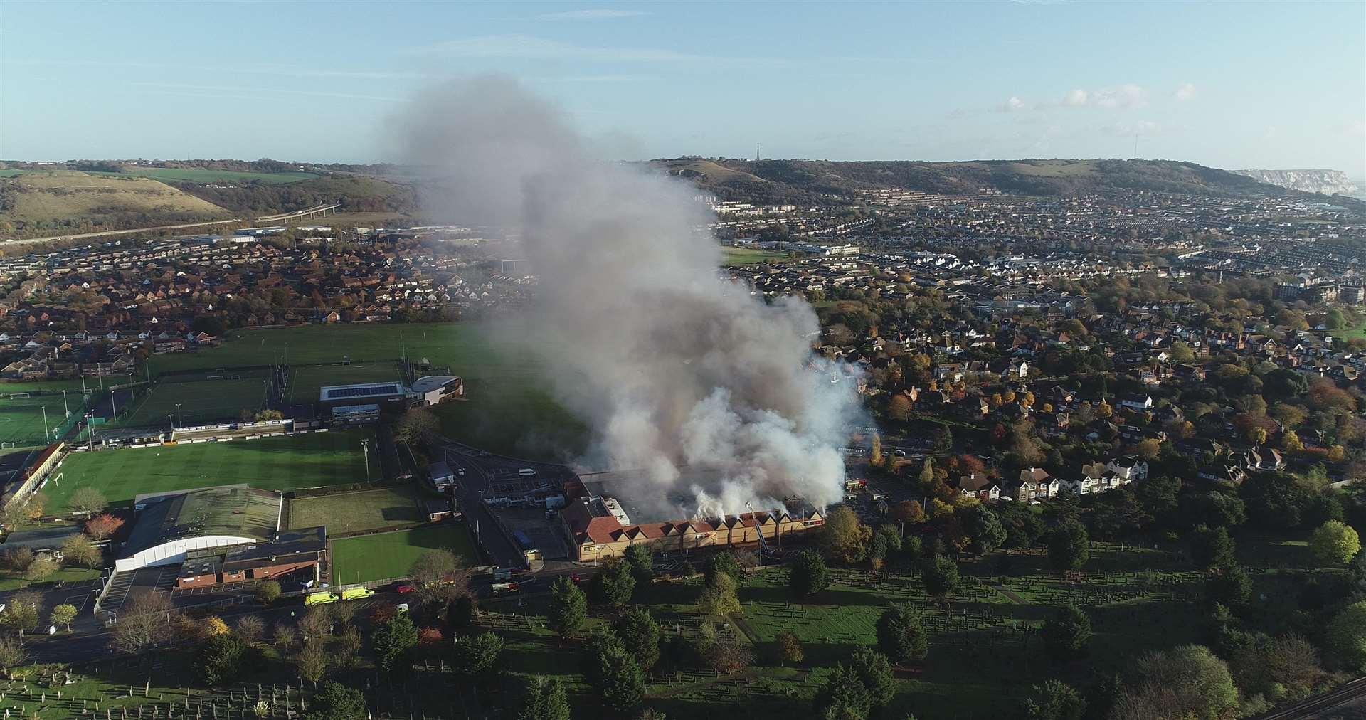 Morrisons In Folkestone On Fire