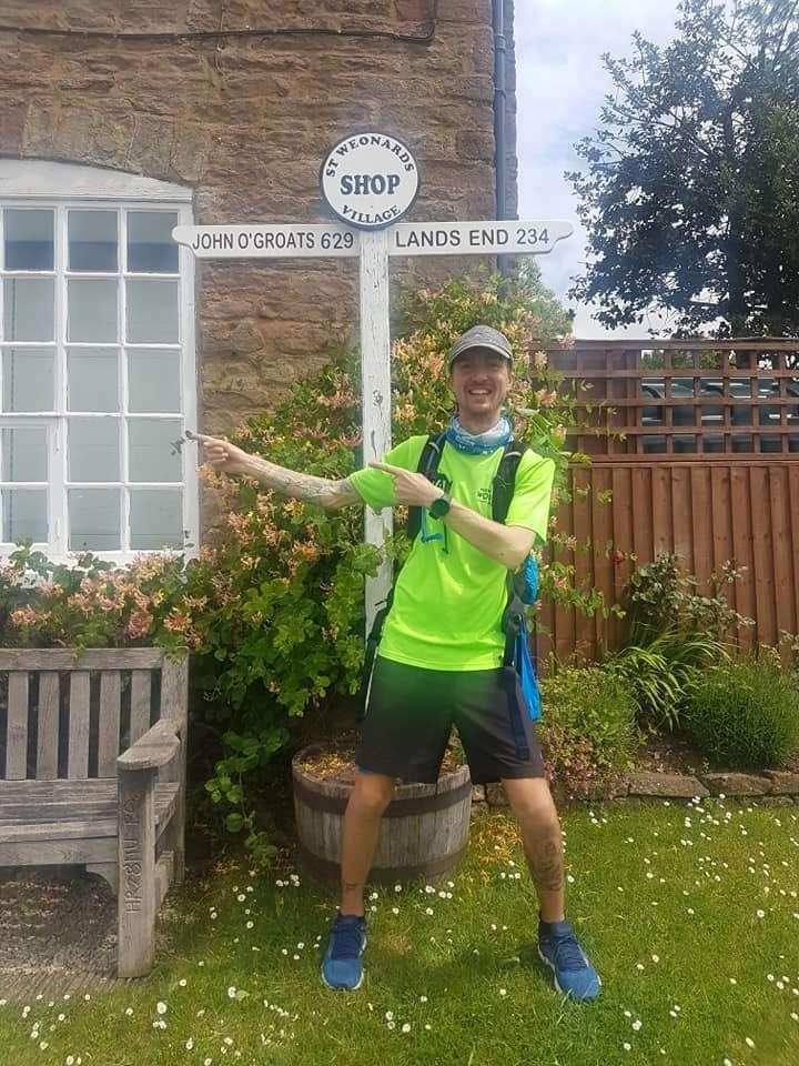 Ryan Brett, from Rainham, is aiming to finish the day in Shrewsbury today. Picture: Ryan Brett
