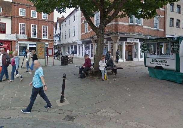 The attack took place in The Parade near to the junction with Rose Lane and Longmarket. Picture: Google