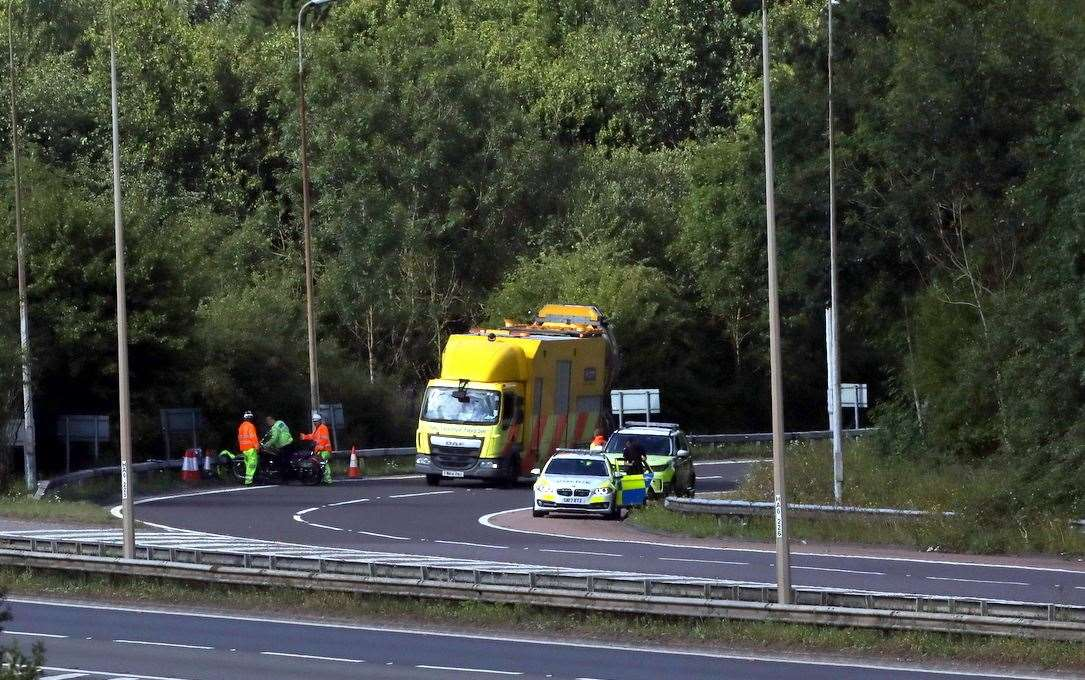 Emergency crews at the scene of the crash. Picture: UKNiP