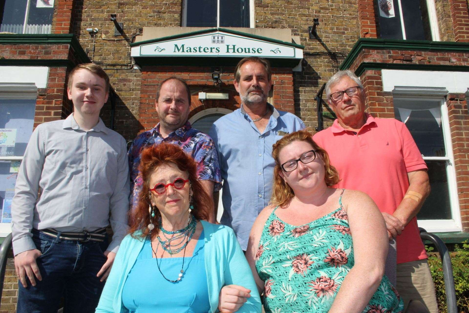 Back home: Sheerness town council members outside the old council offices in Trinity Road (15153542)