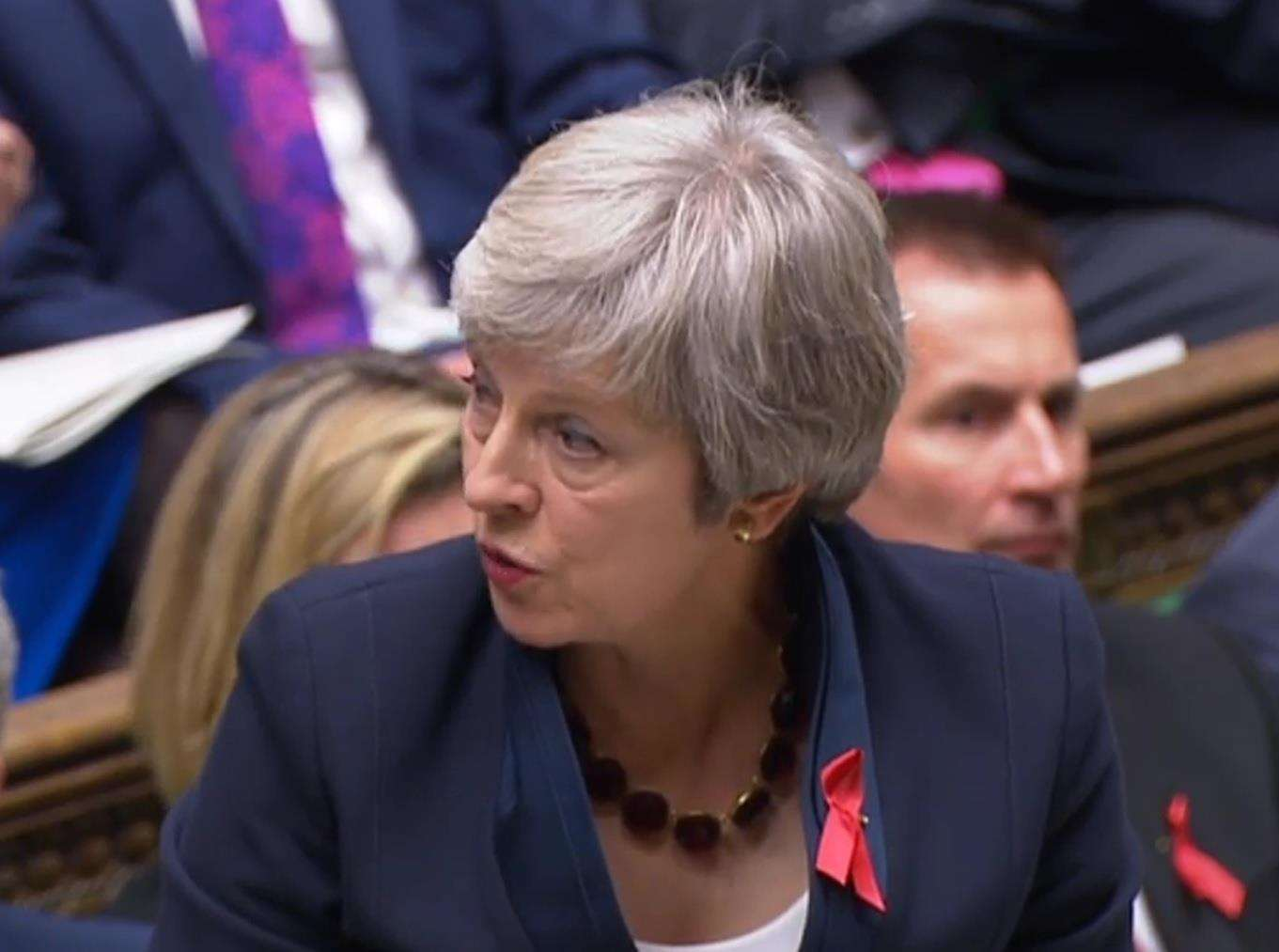 Prime minister Theresa May respond's to the MP's question (7155804)