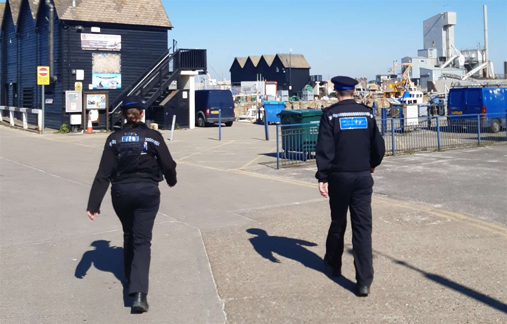 Police out on patrol in Whitstable during lockdown