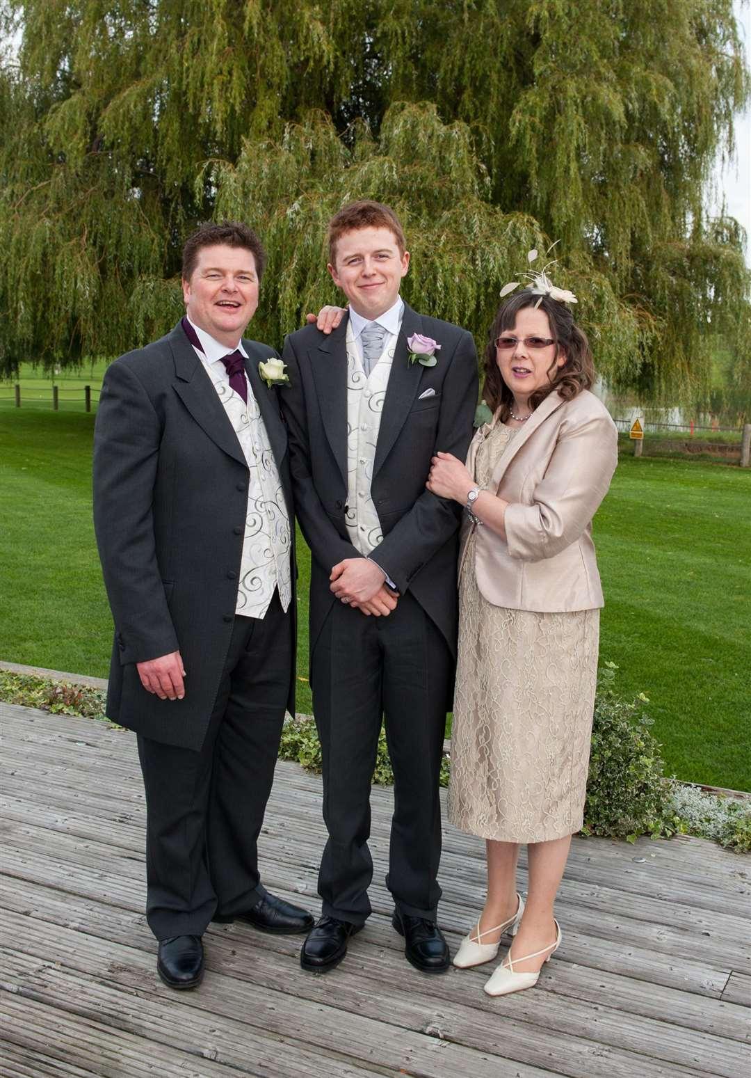 Steve and Amanda at son Ben's wedding
