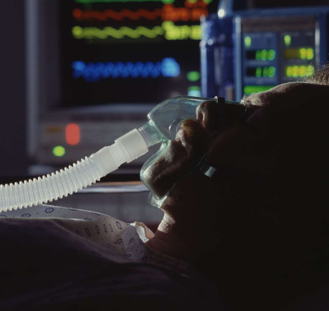 The number of patients requiring a ventilator rose from 0 to 10. Stock image.