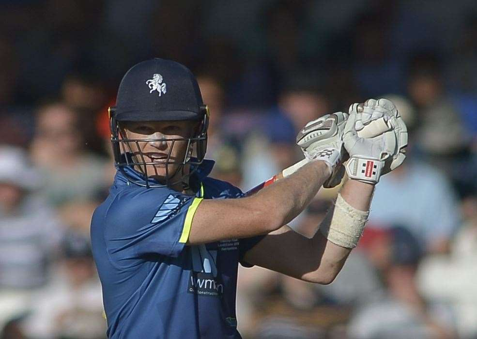 Sam Billings in action for Kent Picture Ady Kerry