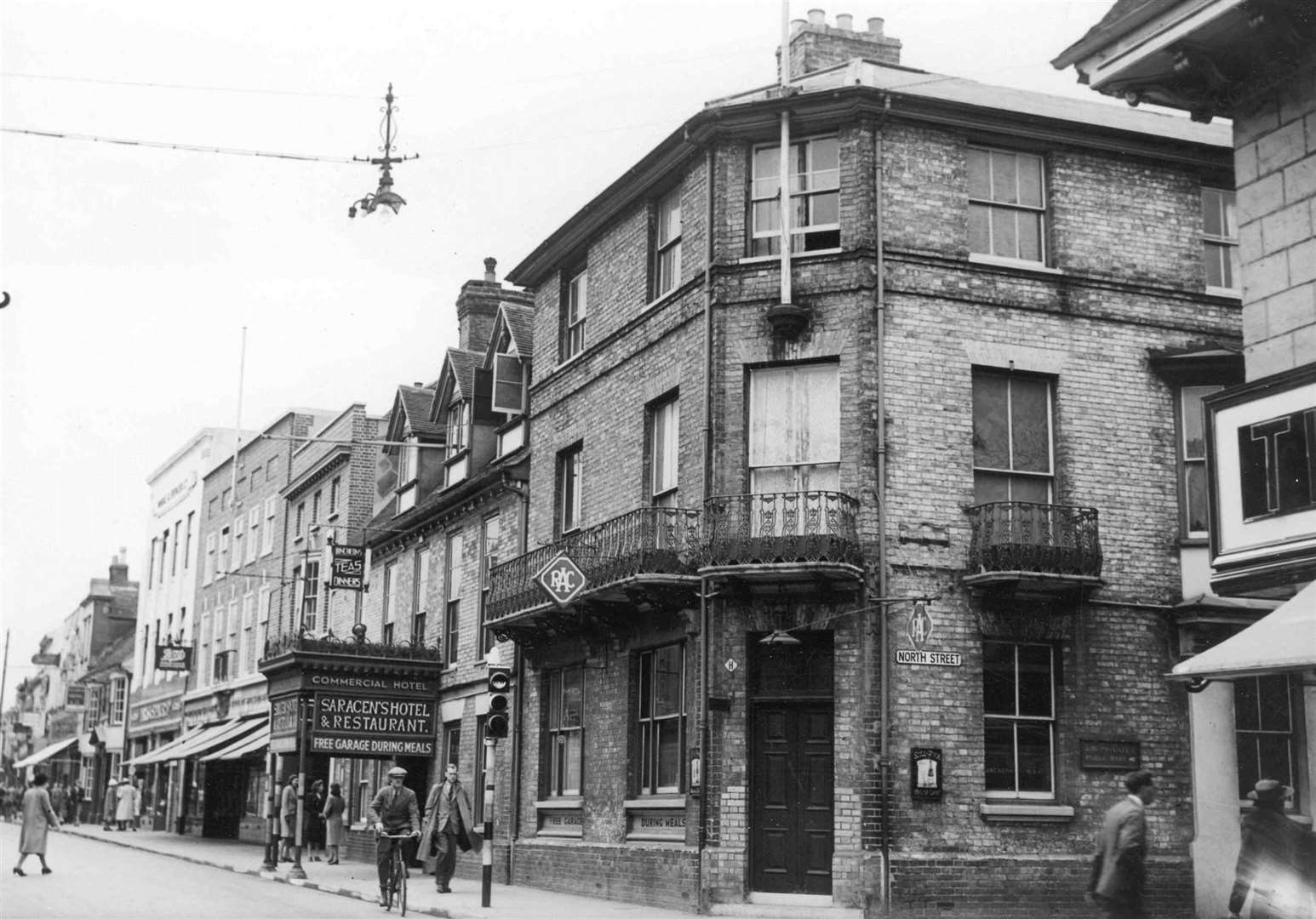 Saracen's Head Hotel in Ashford, on the corner of High Street and North Street. Picture: Images of Ashford by Mike Bennett