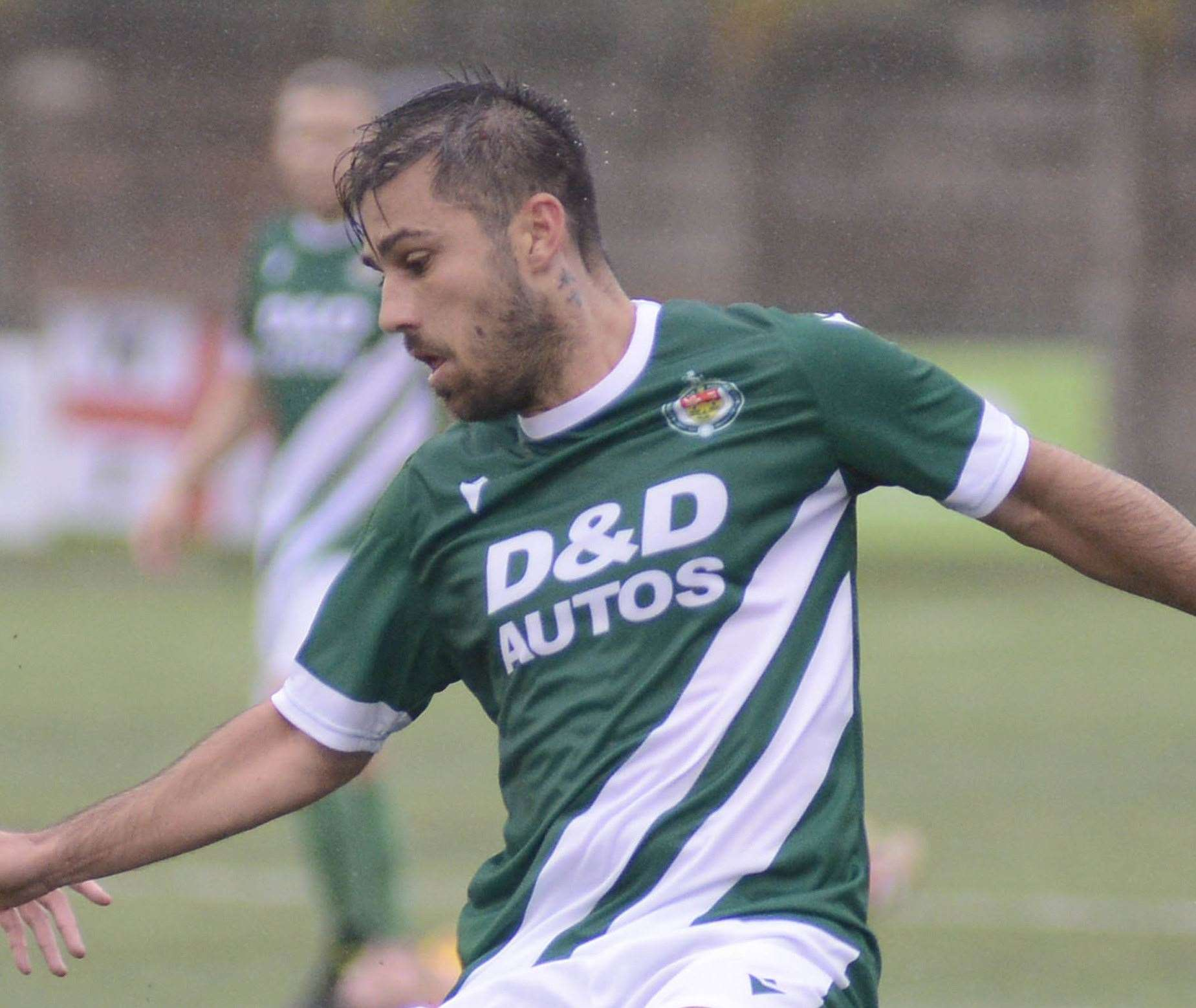 Ashford hat-trick man Aaron Condon Picture: Paul Amos