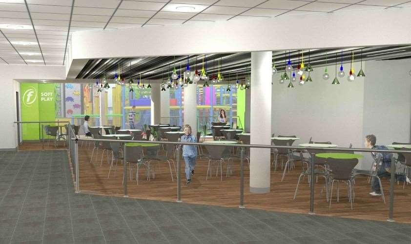 A new cafe and soft play area are included in the project