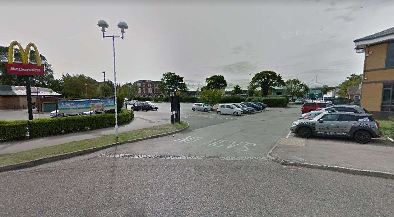 The site is being set up between McDonald's and Sheppey College. Picture: Google (44000218)