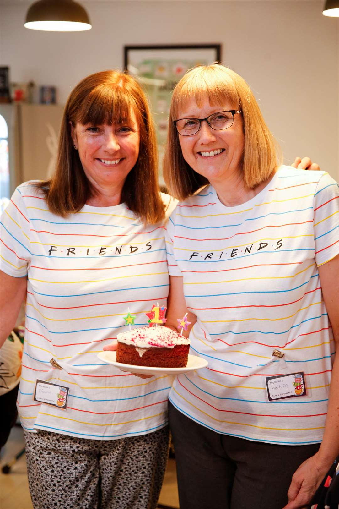 Diane Bromley and Wendy Pfeiffer of West Kent Befriending Service with their birthday cake. Picture: Matthew Walker