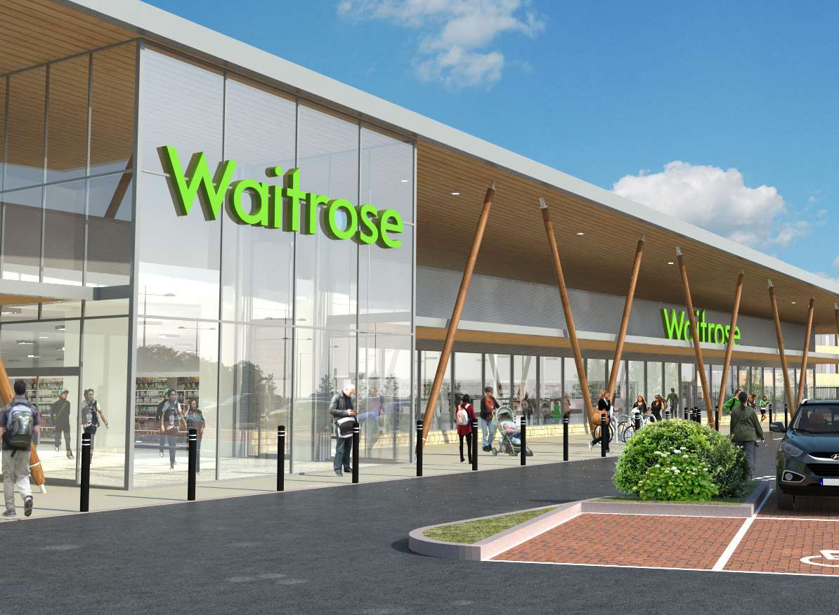 Images of Waitrose which is planned for Eclipse Park