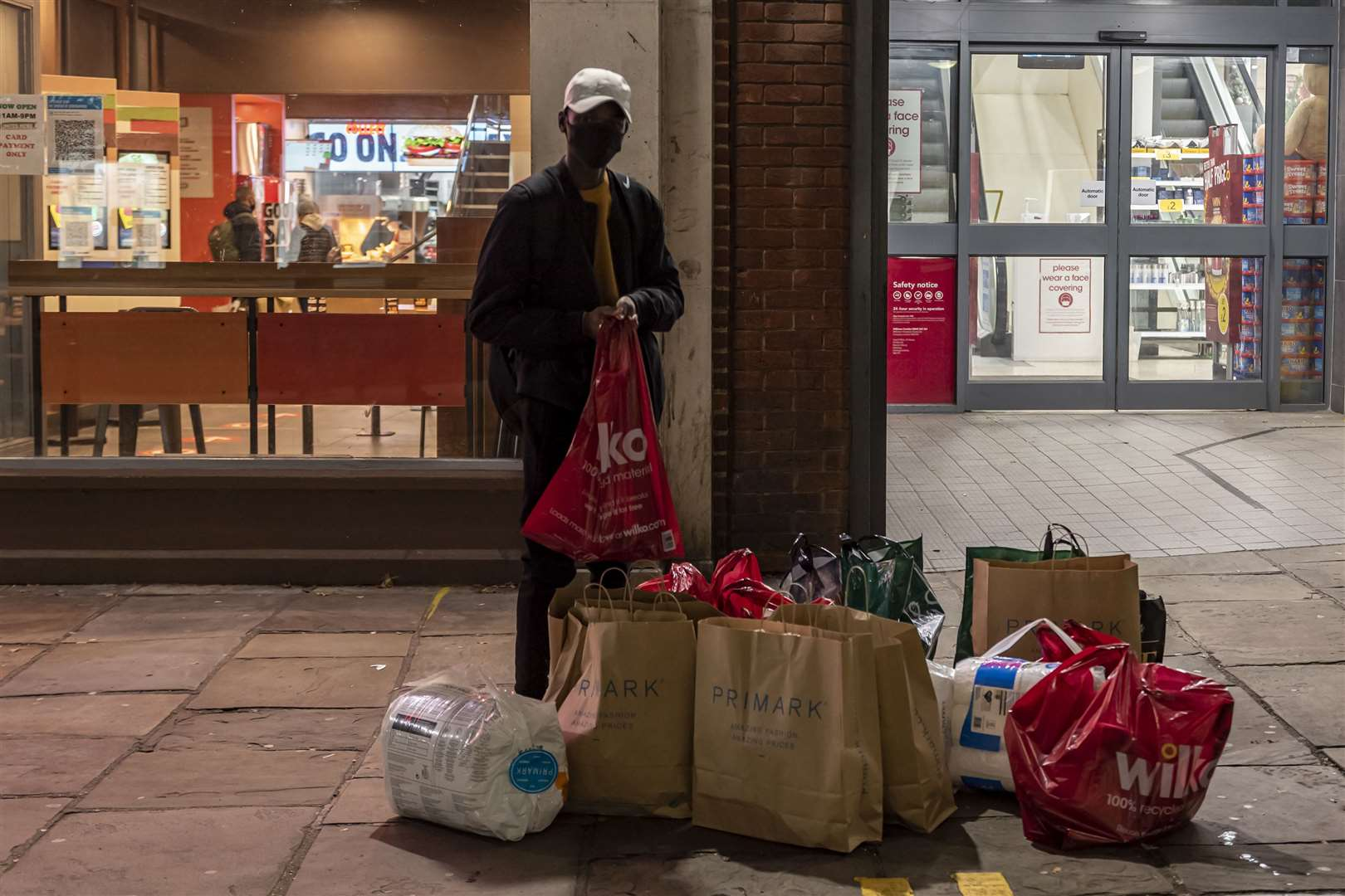 A busy shopper in Canterbury on Wednesday night. Pictures: Jo Court