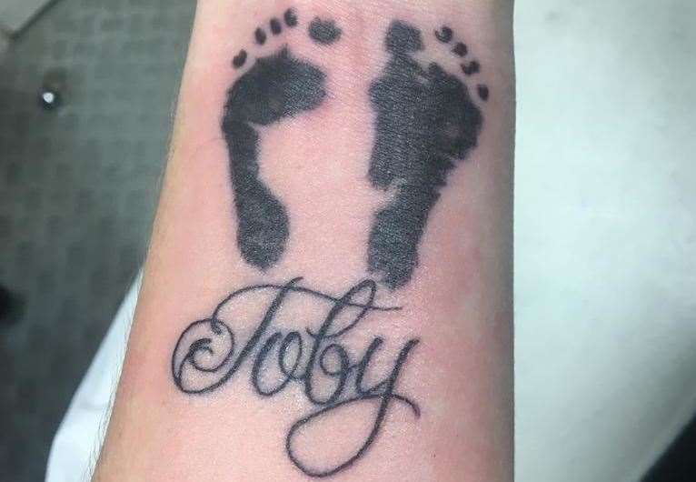 The mother had a tattoo in memory of her son