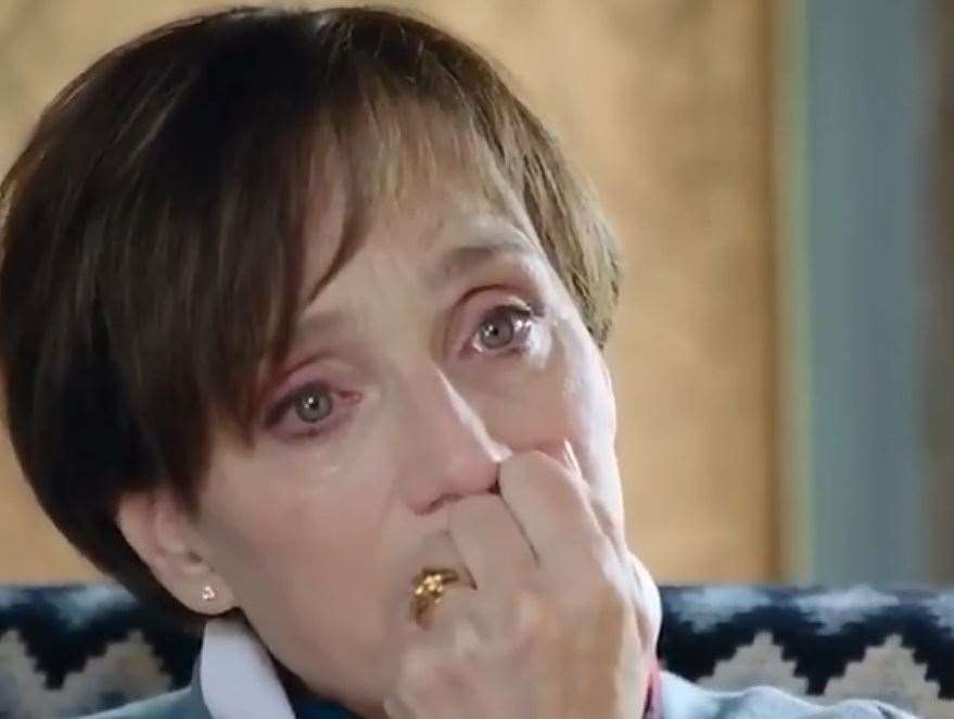 Kristin Scott Thomas was brought to tears when receiving her grandfather's medal: Picture: Channel 4