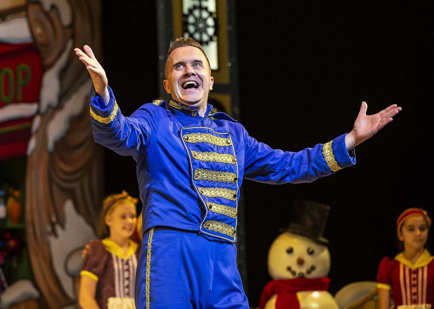 Phil Gallagher (Mister Maker) as Buttons in Cinderella at the Marlowe Theatre Picture: Pamela Raith