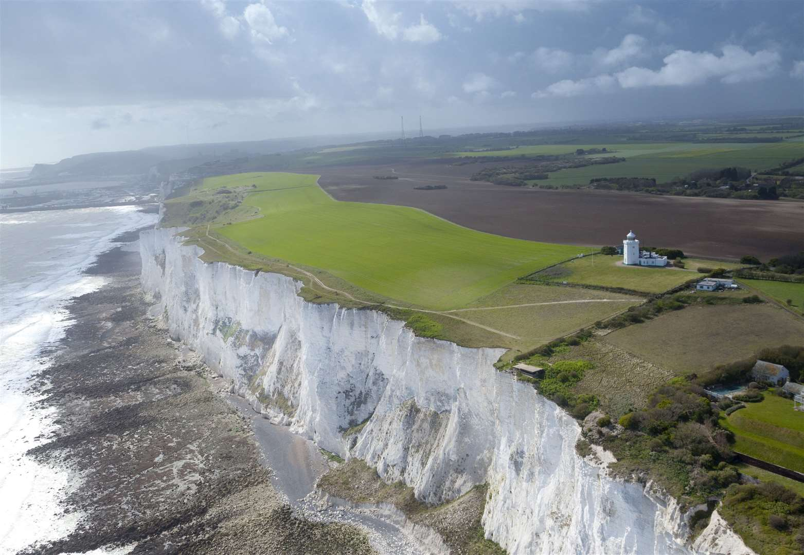 The planes will fly above the White Cliffs of Dover