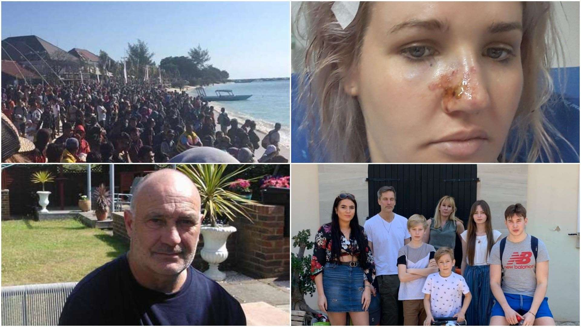 Some of the families from Kent caught up in some holidays from hell