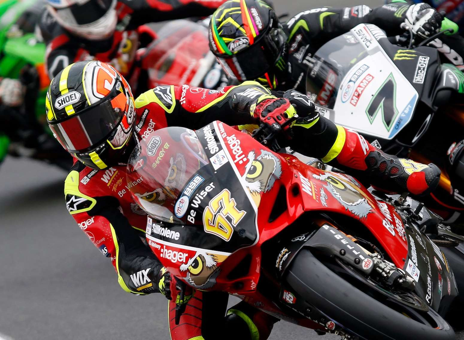 Shane Byrne tackles the Brands Hatch circuit in the British Superbikes Championship Picture: PSP Photography