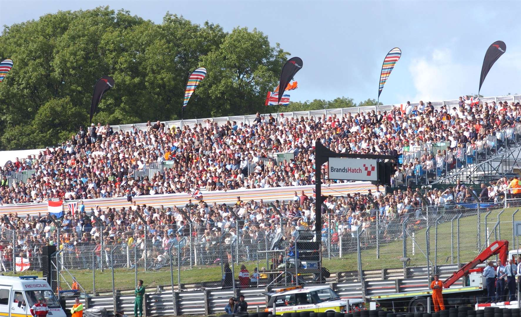 The first Brands event in 2005 attracted 72,000 people over the weekend – including 46,000 fans on the Sunday. Picture: Barry Goodwin