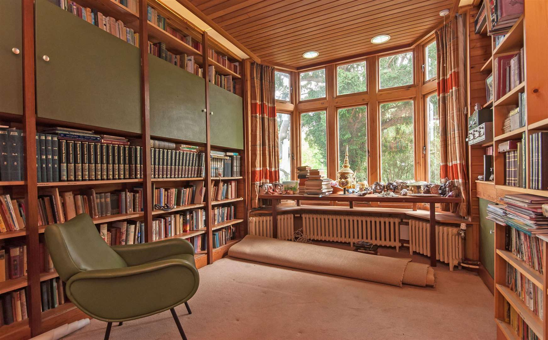The library at Boley Hill House