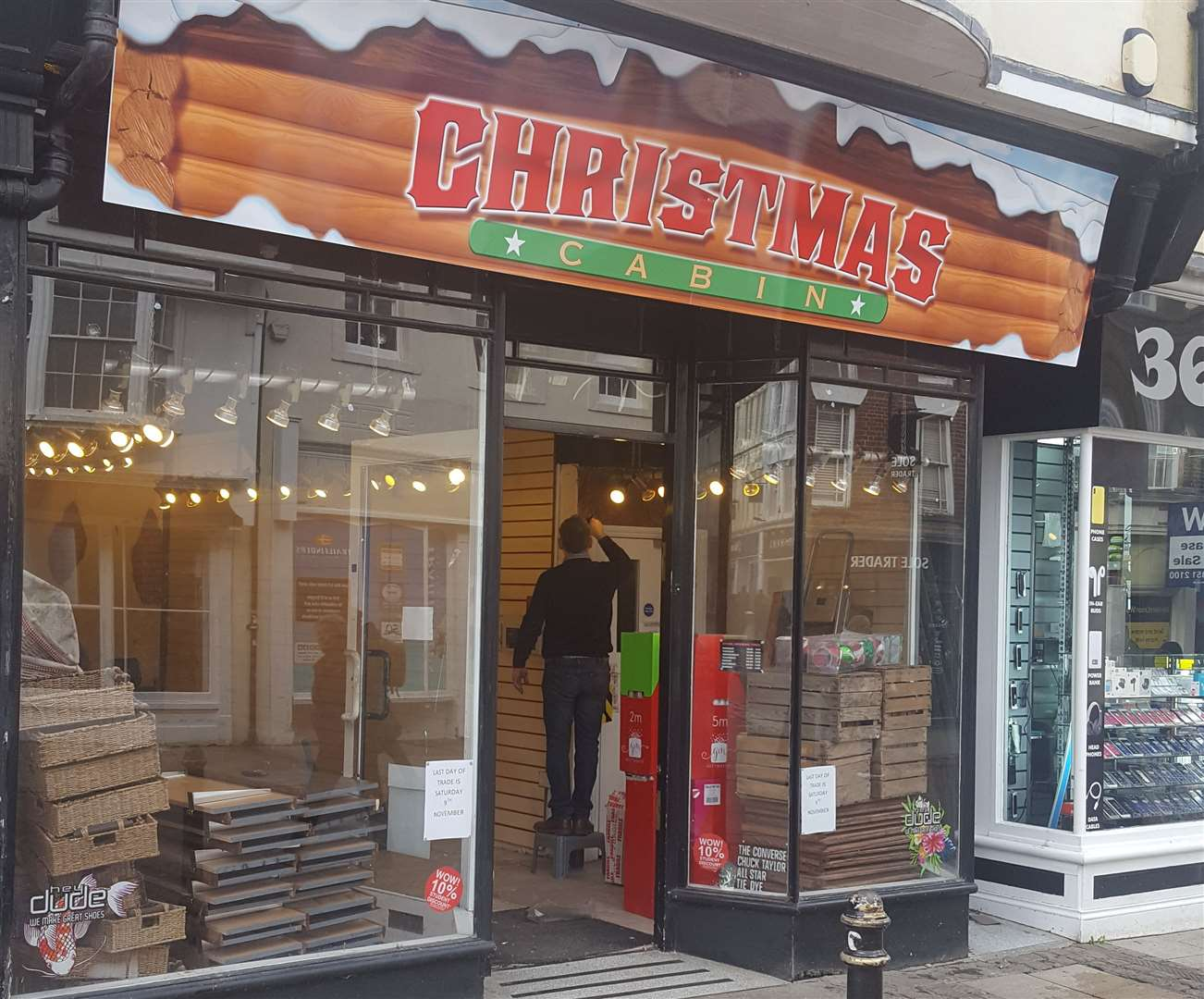 A new shop called Christmas Cabin is opening up on the site (21367282)