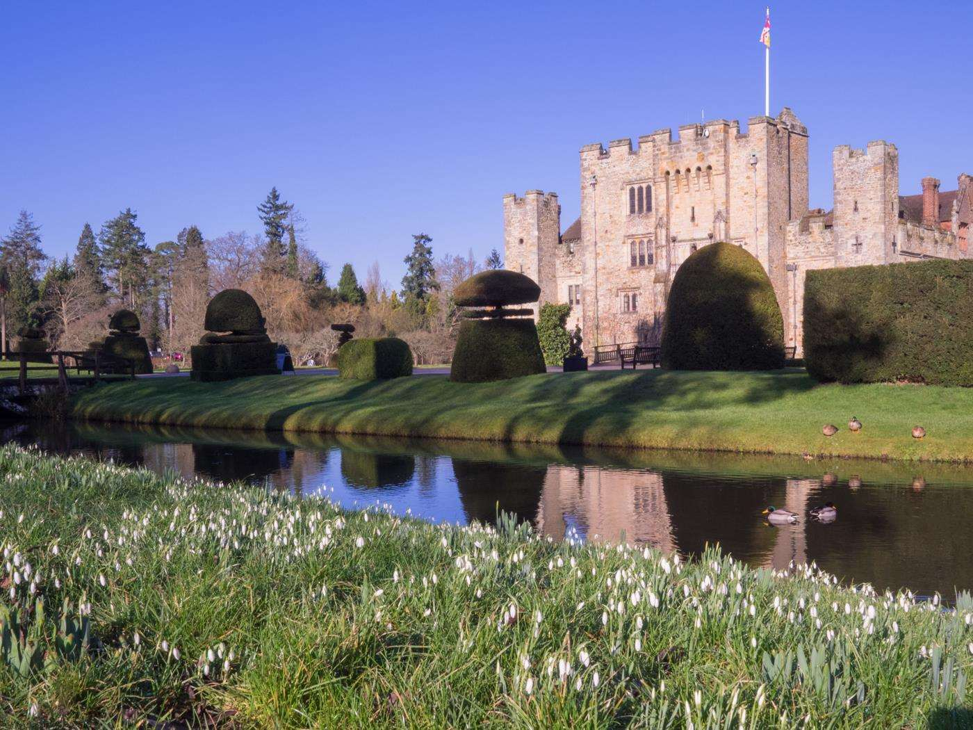 Spring blooms will soon be on display at Hever Castle