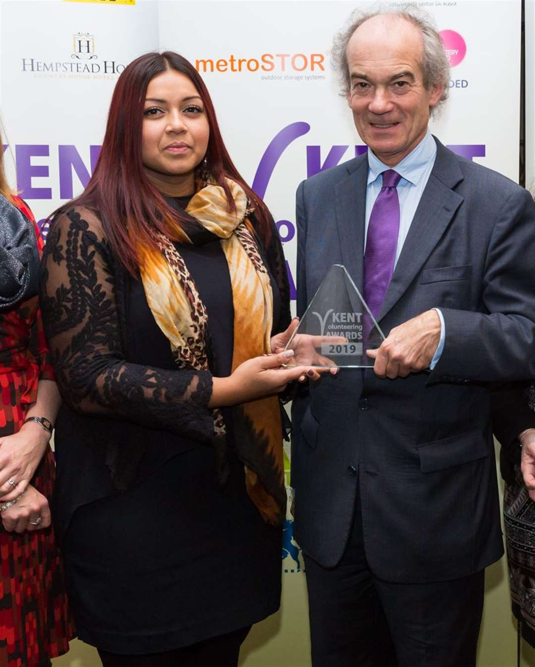 DAVSS CEO Henu Cummins at the Kent Volunteering Awards last year Picture: Martin Apps